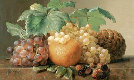 """Bodegón con uvas"" (1842), de Johan Laurentz Jensen"