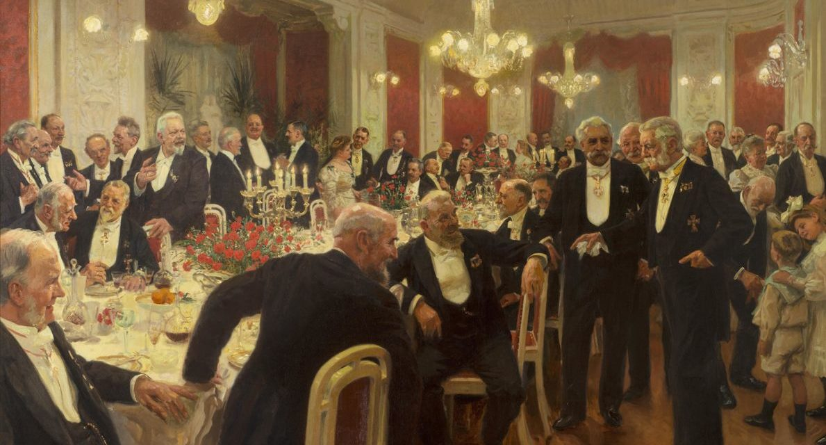 """""""Dejando la mesa"""" (1906), de Laurits Tuxen"""