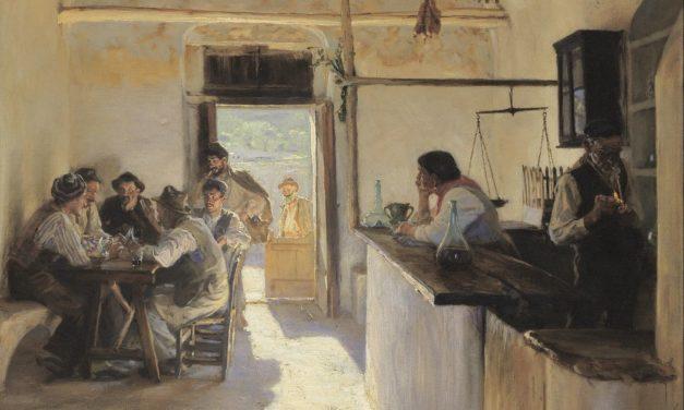 """""""Osteria en Ravello"""" (1890), de Peder Severin Krøyer"""