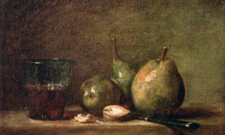 """""""Peras, nueces y un vaso de vino"""" (1768), de Jean-Baptiste-Siméon Chardin"""