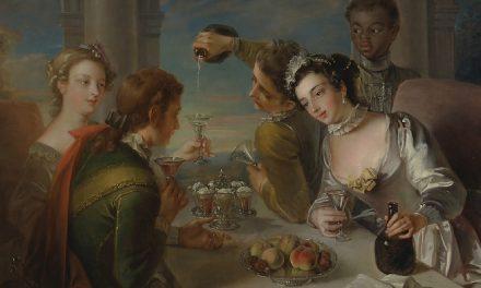"""""""El sentido del gusto"""" (1744), de Philippe Mercier"""