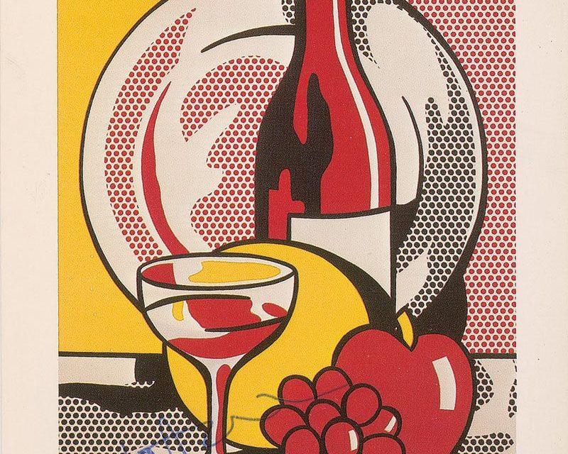 """""""Bodegón con vino tinto"""" (1970), de Roy Lichtenstein"""