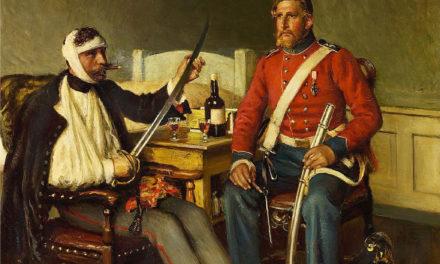 """Conversación"" (1871), de Vilhelm Jakob Rosenstand"