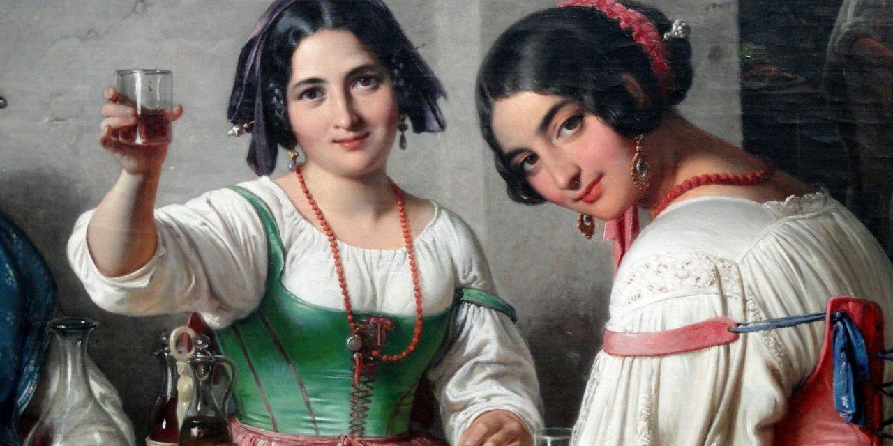 """""""Escena de Osteria Italiana"""" (1848), de Wilhelm Marstrand"""