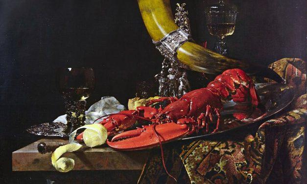 """""""Bodegón con copa en forma de cuerno"""" (1653), de Willem Kalf"""