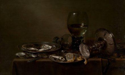 """""""Bodegón con ostras, una taza de plata y cristalería"""" (1635), de W-C. Heda"""