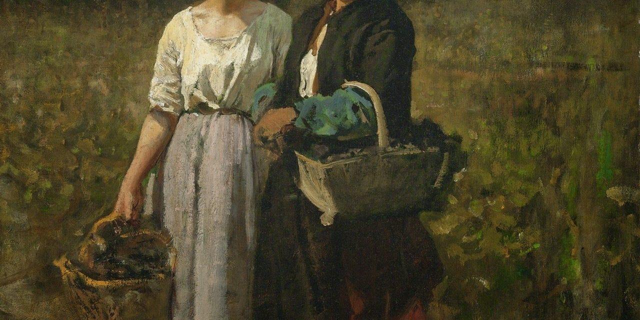 """""""La vendimia en el Chateau-Lagrange"""" (1860), de Jules Breton"""