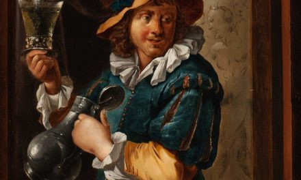 """""""Bebedor de vino por un plato con ostras"""" (1715), de François Xaver Henri Verbeeck"""