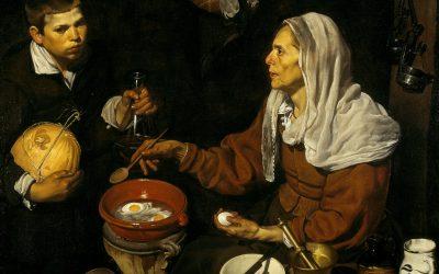 """""""Vieja friendo huevos"""" (1618), de Diego Velázquez"""