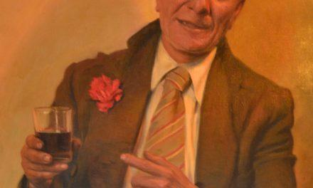"""""""Retrato con copa de vino"""" (primera mitad siglo XX), de Eduardo Fló"""