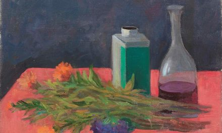 """""""Bodegón con flores y botellas"""" (1955), de Mario Mafai"""
