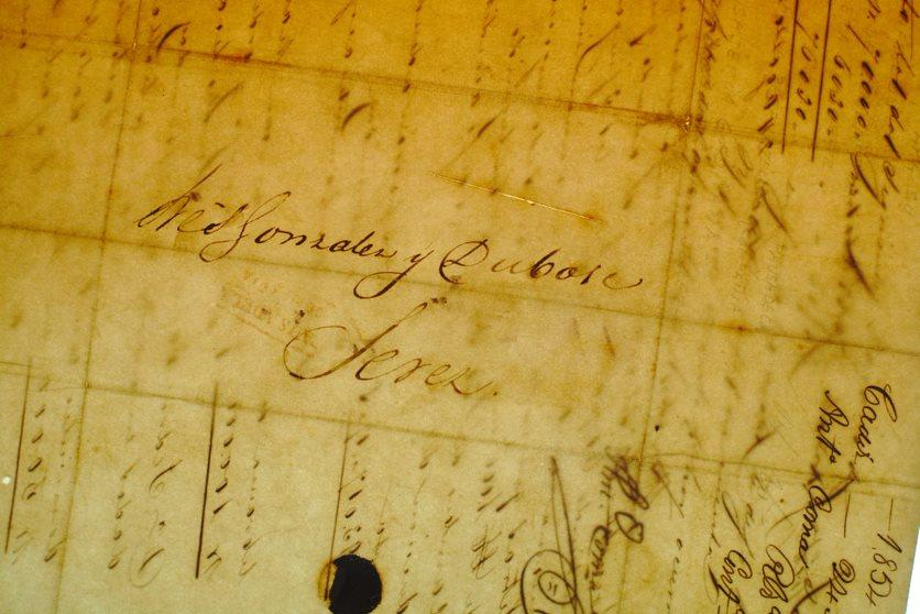 González Byass muestra documentos de su archivo histórico