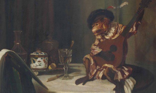 """El mono músico"" (1834), de Alexandre-Gabriel Decamps"