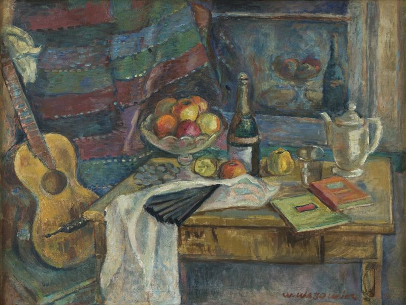 """""""Naturaleza muerta con un abanico"""" (1920), de Wacław Wąsowicz"""