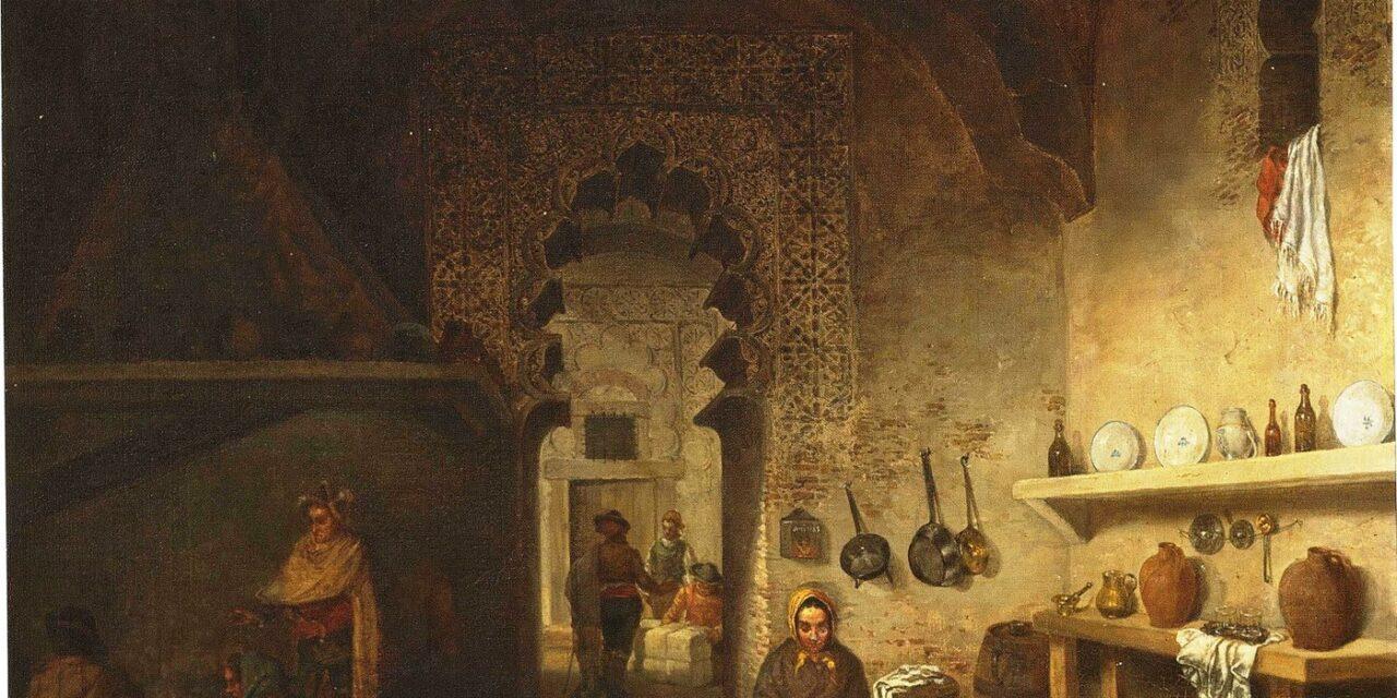 """""""Interior de la cocina de una posada en Maqueda"""" (1876), de Cecilio Pizarro"""
