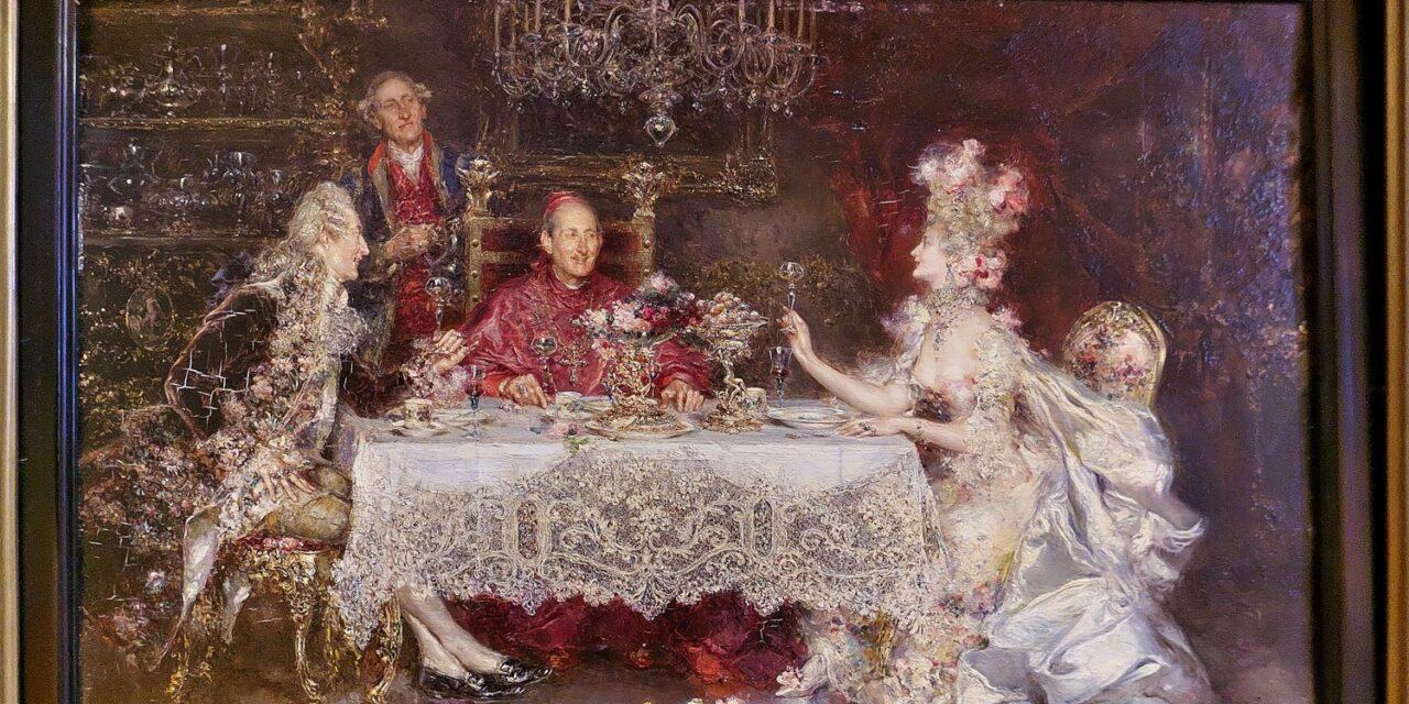 """""""Brindis con el cardenal """" (1915), de Juan Pablo Salinas Teruel"""