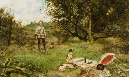 """""""Merienda en el campo"""" (1900), de Agustín Salinas y Teruel"""