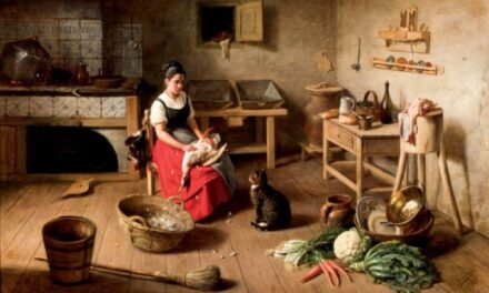 """En la cocina"" (1883), de Federico Jiménez Fernández"