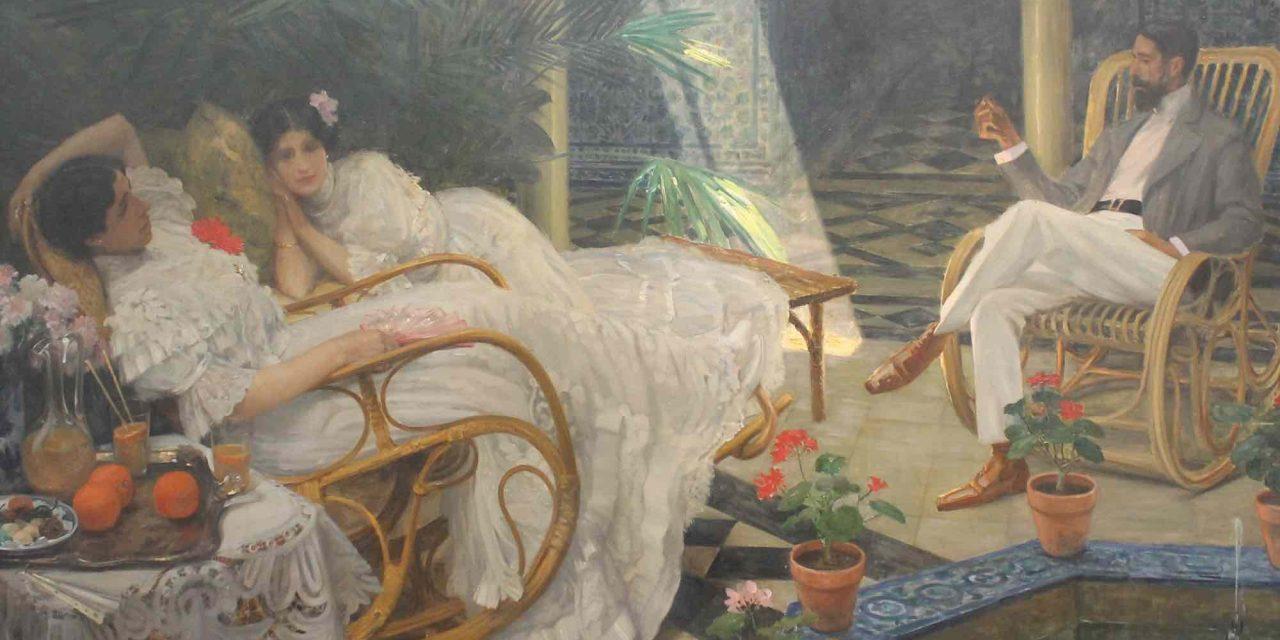 """""""Le patio"""" (1908), de Henri Achille Zo"""