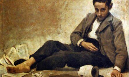 """""""Retrato de joven con vino"""" (1902), de Luis Manero Miguel"""