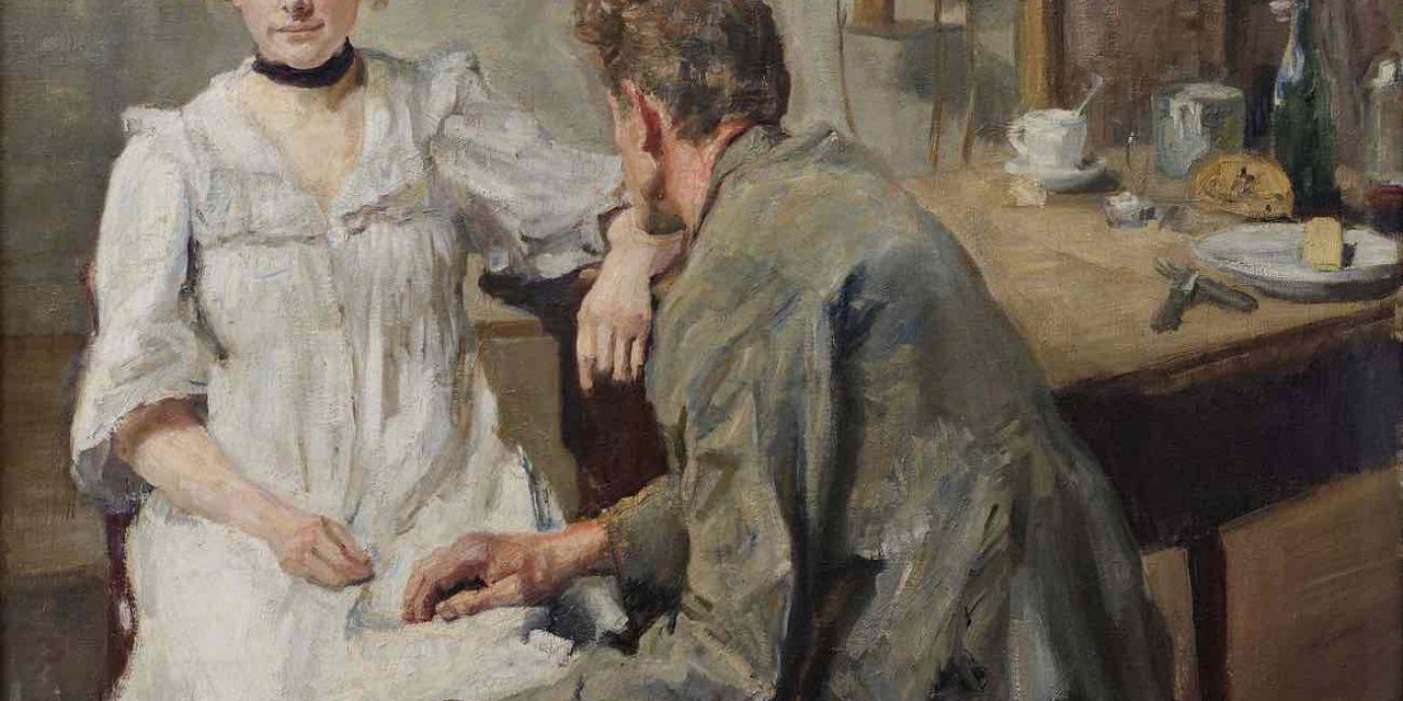 """""""El trabajo del día hecho"""" (1900), de Max Slevogt"""
