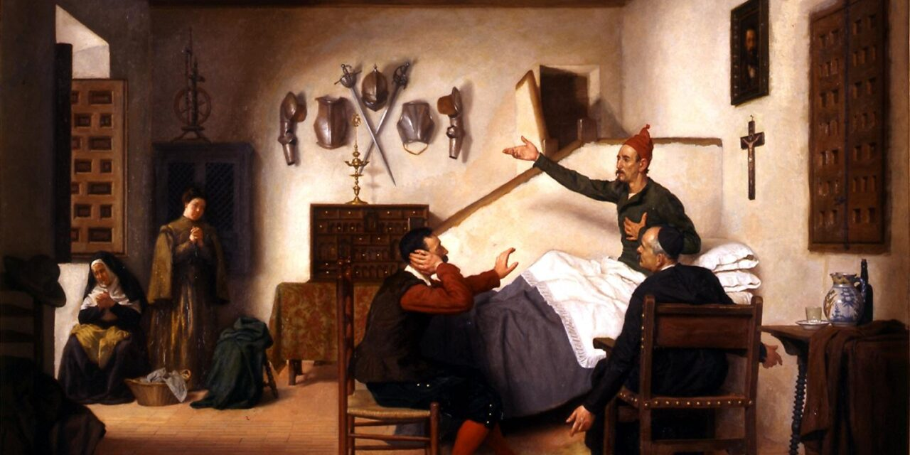 """""""Don Quijote enfermo"""" (1883), de Miguel Jadraque"""