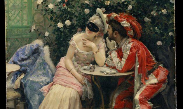 """""""Enmascarados"""" (1875), de Raimundo Madrazo"""