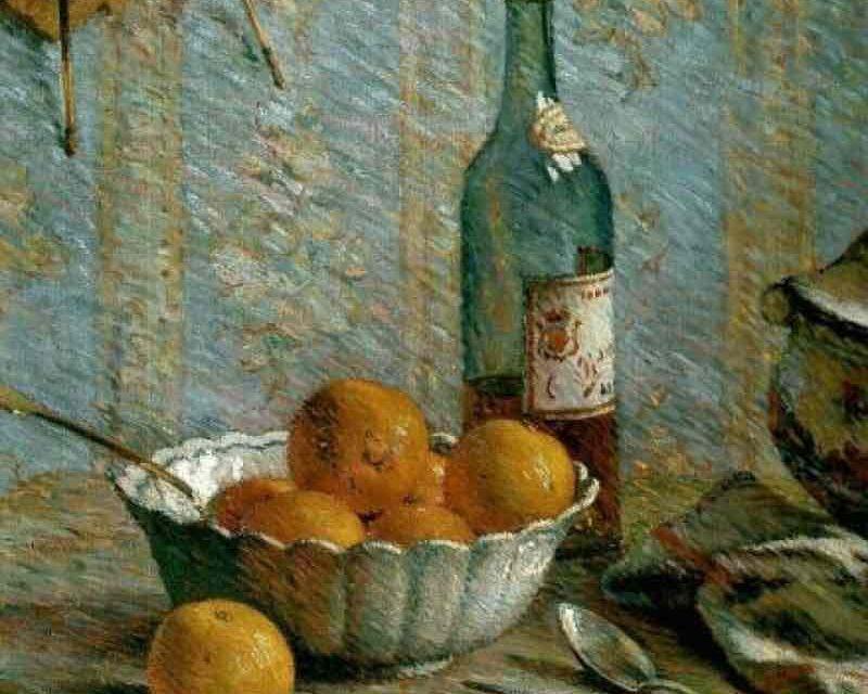 """""""Bodegón con tazón y frutas"""" (1886), de Émile Schuffenecker"""