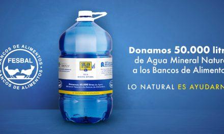 Solán de Cabras dona 50.000 litros de agua mineral natural a FESBAL