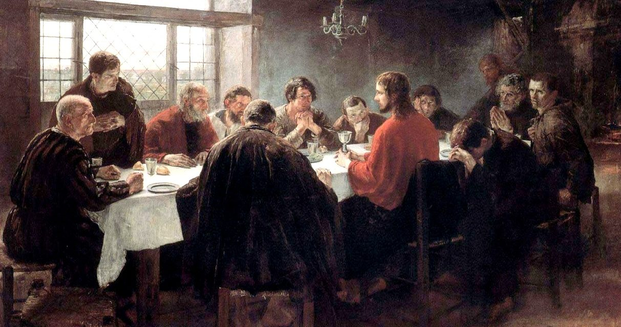 """""""La última cena"""" (1886), de Fritz von Uhde"""