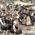 """""""Tipos y costumbres populares. Galicia. Romería de San Cosme en Bayona"""" (1875), de Francisco Pradilla"""