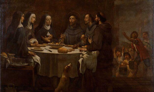 """""""San Francisco y Santa Clara cenando en el Convento de San Damián"""" (1724), de Antoni Viladomat"""