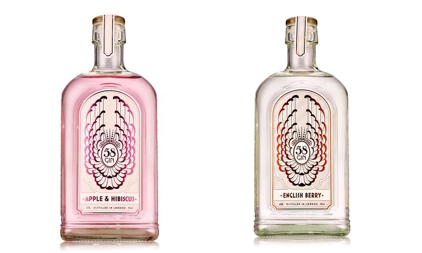 58 Gin añade dos nuevos sabores: 58 English Berry Gin y 58 Apple and Hibiscus Gin
