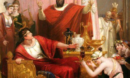 """""""La espada de Damocles"""" (1800), de Richard Westall"""