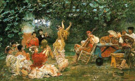 """""""Baile andaluz"""" (1893), de  José Villegas Cordero"""