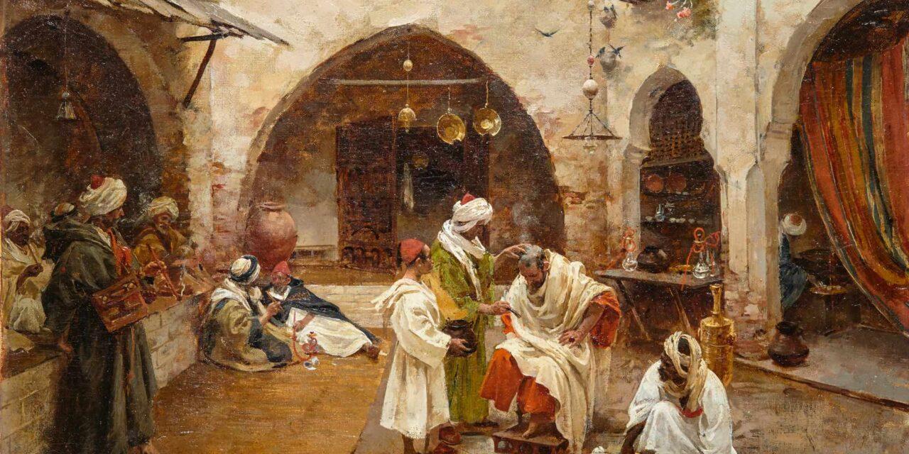 """""""El barbero del zoco"""" (1897), de Enrique Simonet"""