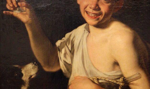 """""""Chico con una botella de vino"""" (1770), de Gaspare Traversi"""