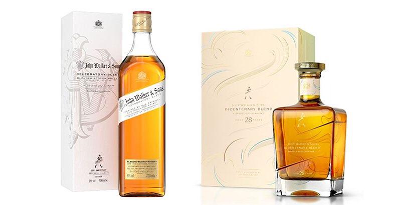 Johnnie Walker crea botellas para su 200 cumpleaños