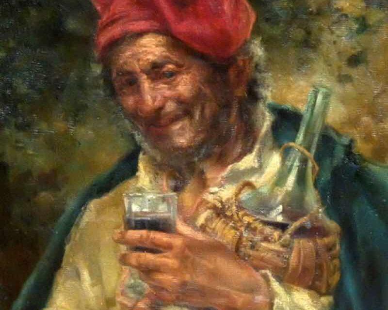 """""""Personaje con vino"""" (1876), de Ricardo Villodas y de la Torre"""