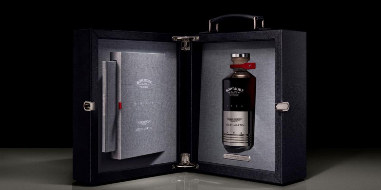 Aston Martin y Bowmore embotellan un whisky de 50.000 libras, Black Bowmore DB5 1964