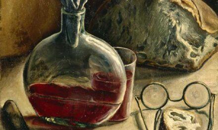 """""""Bodegón con jarra de vino, pan y vasos"""" (1930), de François Barraud"""
