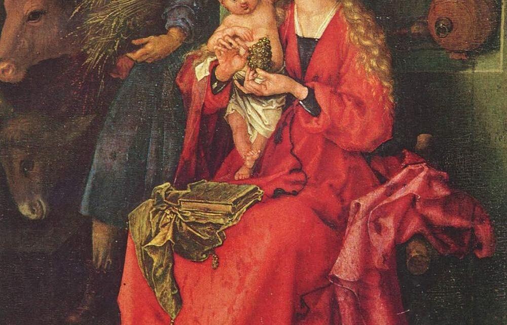 """""""Sagrada Familia"""" (1480), de Martin Schongauer"""