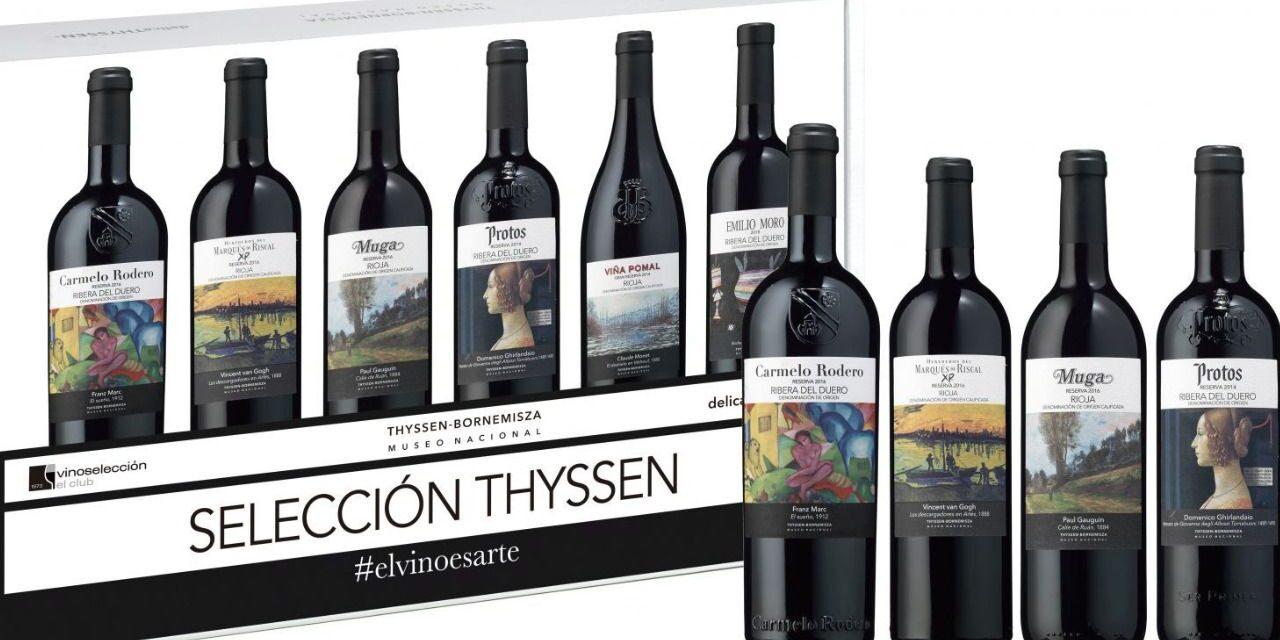 ¡Arte y vino se dan la mano! Vinoselección y Thyssen-Bornemisza presentan la segunda edición del estuche 'Selección Thyssen'