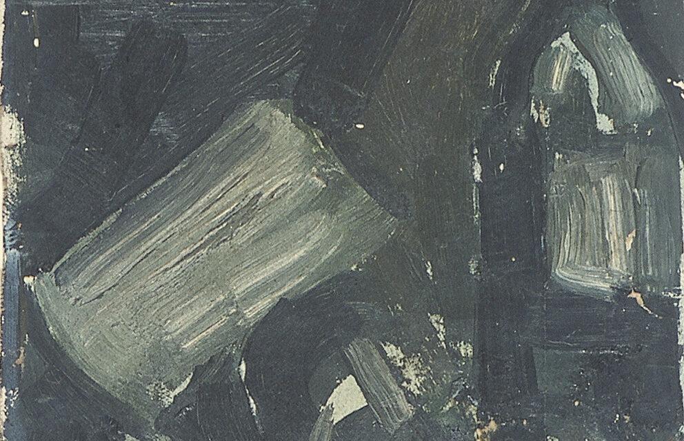 """Bodegón con botella de vino"" (1919), de Theo van Doesburg"