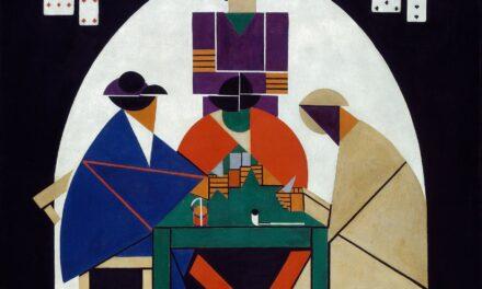 """""""Los jugadores de cartas"""" (1916), de Theo van Doesburg"""