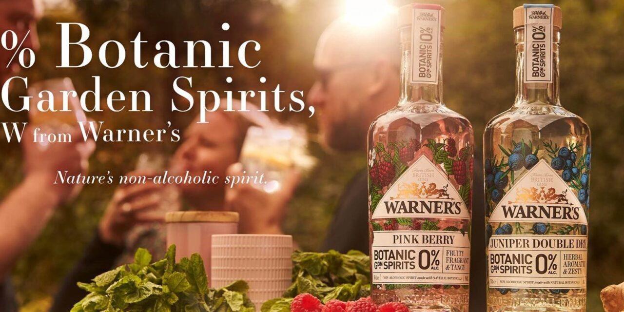 Warner's lanza bebidas no alcohólicos con Juniper Double Dry y Pink Berry