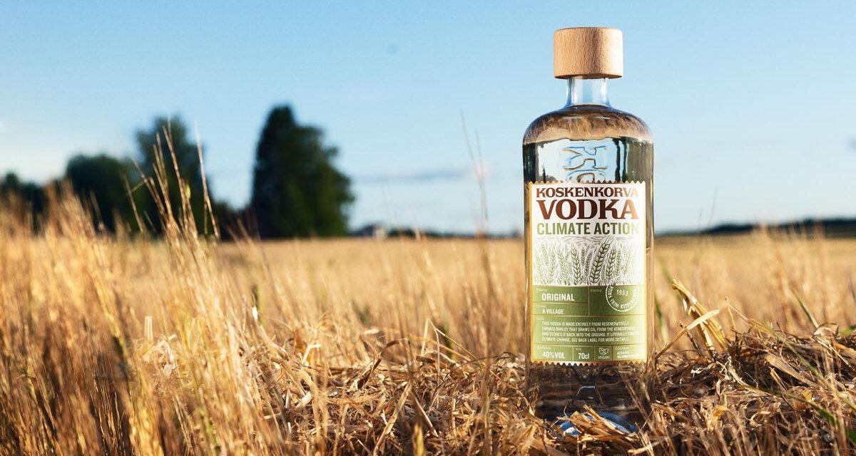 Koskenkorva utiliza cebada de cultivo regenerativo para su nuevo vodka, Koskenkorva Vodka Climate Action