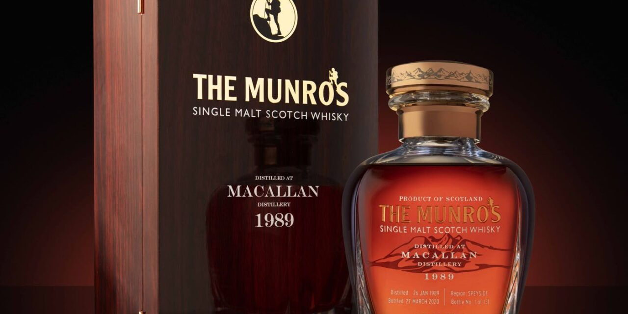 Glasgow Whisky lanza The Munros Macallan 30 Years Old