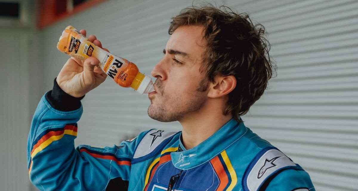 Fernando Alonso invierte en Raw, bebida isotónica ecológica