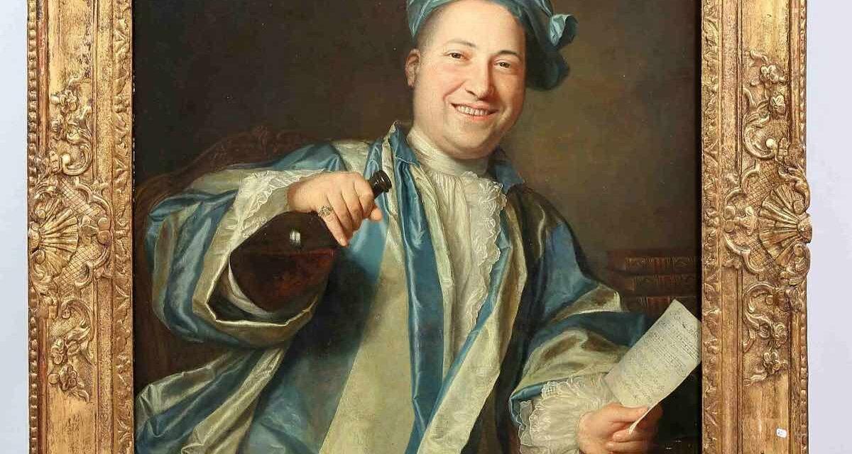 """""""El alegre bebedor"""" (1712), de Jacques Autreau"""
